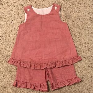 Other - Girls custom made outfit. Red gingham. 5T